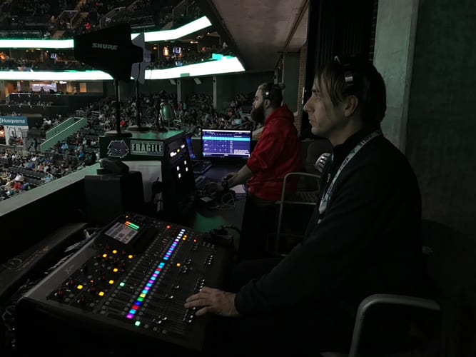 Charlotte Hornets using Shoflo in the sound booth